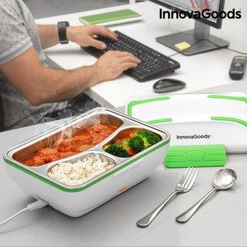 Innovagoods Pro Elektrische Lunchbox 50W Wit Groen-in Lunchdoosjes van Huis & Tuin op