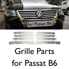 Extensions de calandre chromée, accessoires de voiture pour Volkswagen Passat B6, pièces extérieures, autocollants, calandre avant 2005 – 2011
