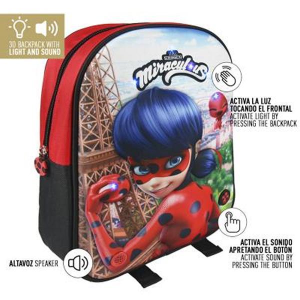 3D School Bag Lady Bug