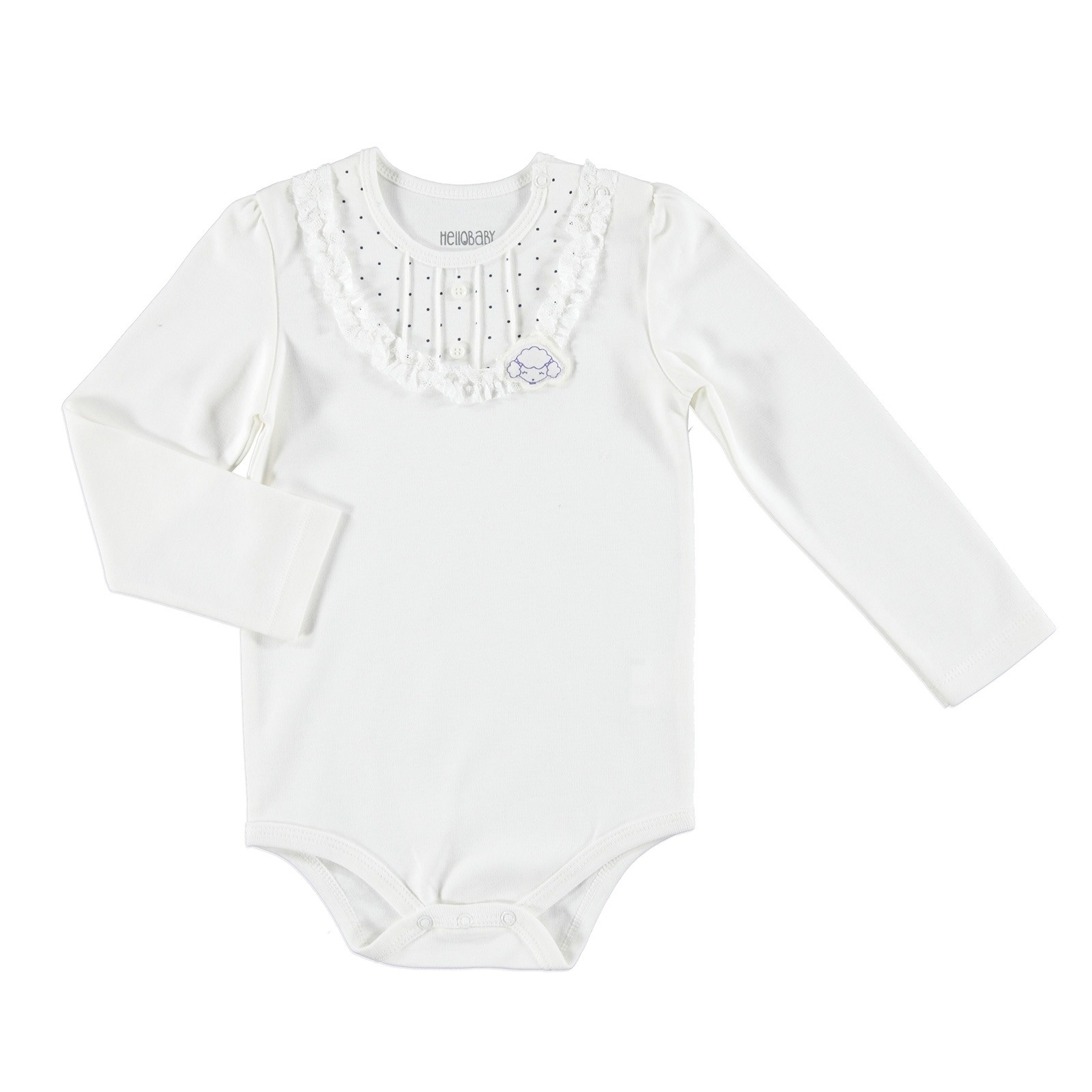 Ebebek HelloBaby Chic Sheep Baby Long Sleeve Bodysuit