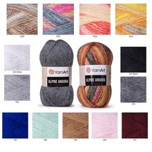Yarnart Alpine Angora Melange Yarn 150gr-150mt Wool DIY Knitting Crochet Wrap Beanie Sweater Kids Adults Knitwears Autumn Winter()