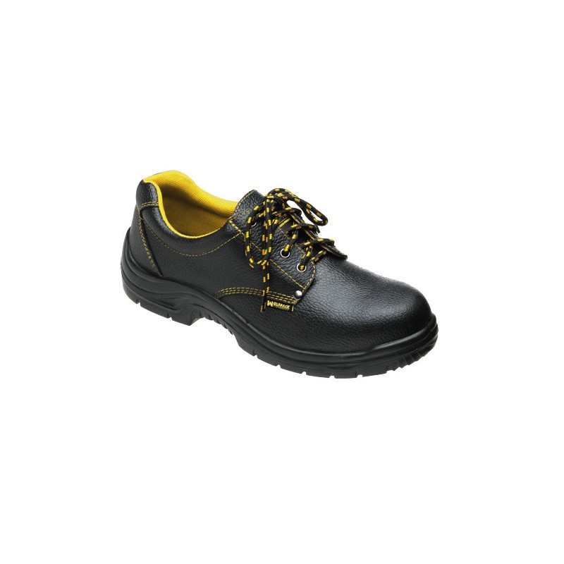 Safety Shoes Black Leather Wolfpack NO. 46 (Pair)