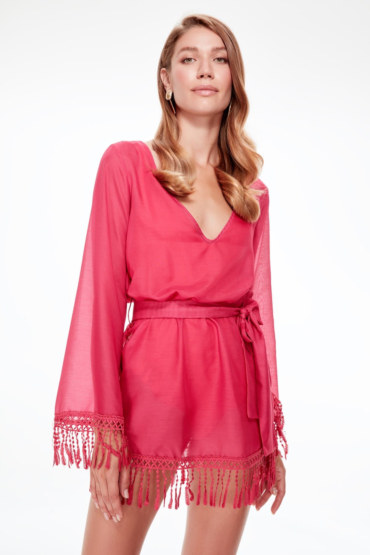 Trendyol Tassels Beach Dress TBESS19EL0559