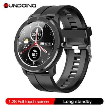 RUNDOING T6 Full touch round screen smart watch for men IP68 Waterproof  Blood pressure oxygen smartwatch for women 1