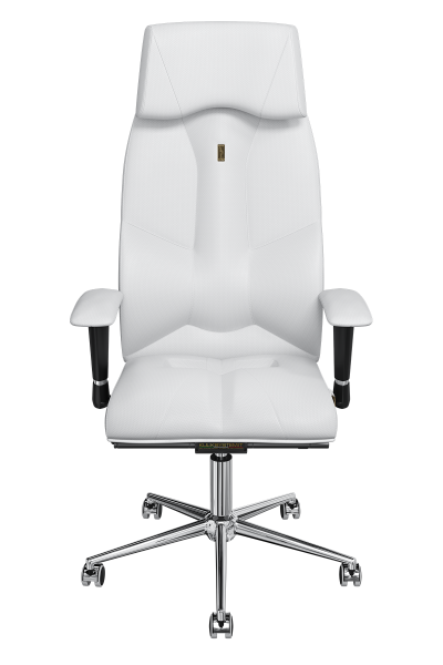 Office Chair KULIK SYSTEM BUSINESS White Computer Chair Relief And Comfort For The Back 5 Zones Control Spine