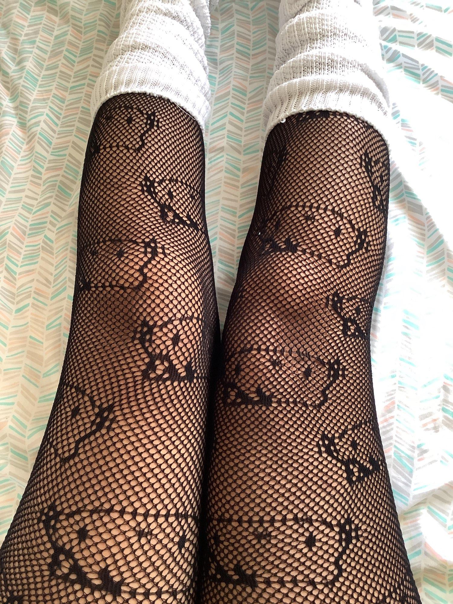 Harajuku Kawaii E-girl Soft Girl Tights with Hello Kitty Pattern photo review