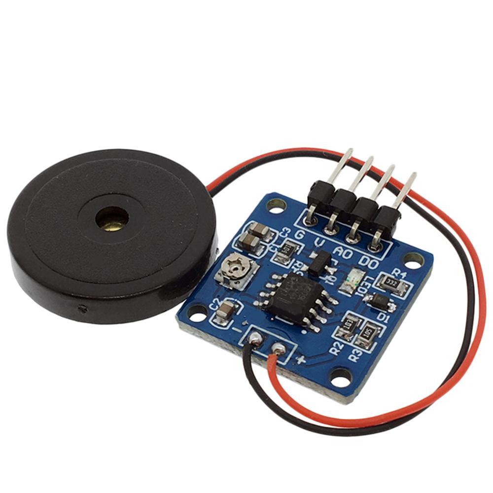 Taidacent Piezo Disk Vibration Sensor Mechanical Vibration Switch Shake Switch Shock Tap Sensor Vibration Sensitivity Adjustable