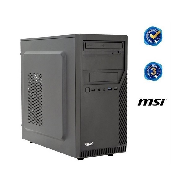 Desktop PC Iggual PSIPCH425 I3-8100 8 GB RAM 240 GB SSD W10 Black