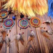 100pcs Round Wooden Beads Dream Catcher Making Kit DIY Necklace Crafts Natural Painted Jewelry Durable Accessories dream catcher
