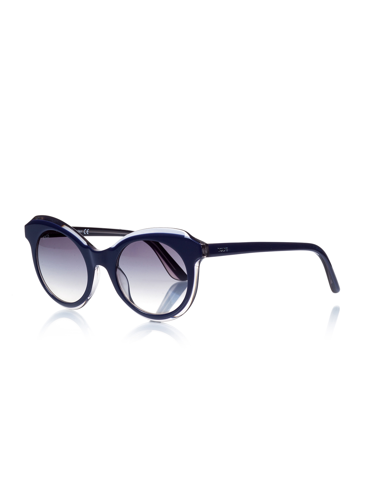 Women's sunglasses to 0161 92w bone navy blue organic oval aval 48-20-140 tods