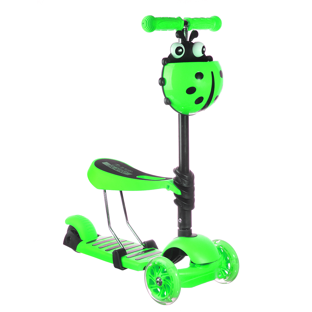 3-WHEEL SCOOTER WITH BASKET AND SEAT UP TO 50 KG