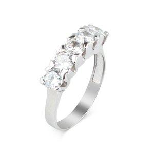 925 пробы Серебряное кольцо из циркония