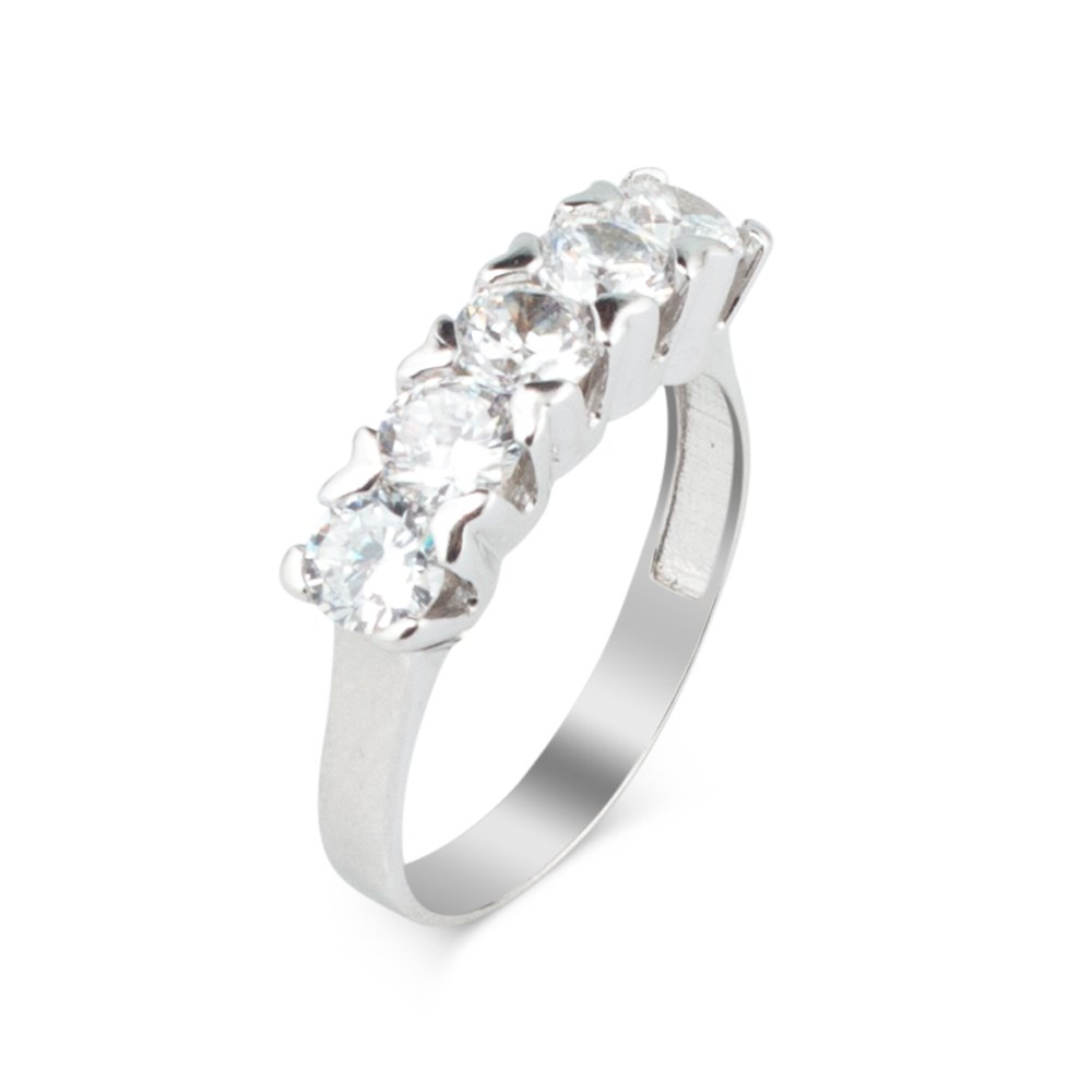 925 sterling Silver Dibs Zircon Stone Ring()
