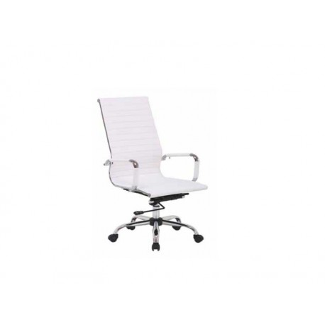 Swivel Office Chair And Liftable In Black Or White Model Paris High.