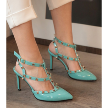 Tina Turquoise High-Heeled Shoes Stiletto Women Shoes Zapato de Mujer Tacon Shoes Woman Thin Heels Pointy Shallow Pumps()