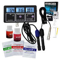 5-in-1 Water Quality Multi-parameter PH EC CF TDS (ppm) Temperature Wall-mountable Rechargeable Continuous Monitor Tester