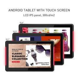 10.1 Inch Android Poe Wall Mounted Tablet Pc Met Led Bars Voor Conferentie Vergaderzaal Schema Display Open Source, geworteld