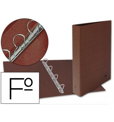 4 'S FOLDER RINGS 25MM MIXED LIDERPAPEL FOLIO CARTON LEATHER LINED COMPRESSOR PLASTICO