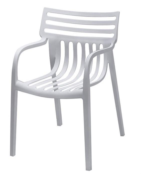 Armchair NAUTILUS Stackable White Polypropylene