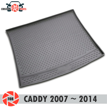 Trunk mat for Volkswagen Caddy 2007~2014 trunk floor rugs non slip polyurethane dirt protection interior trunk car styling фото