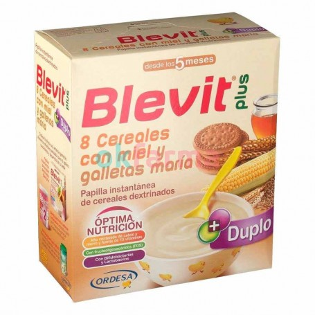 Blevit Plus 8 Cereals Honey AND Cookie Mary 600 GR