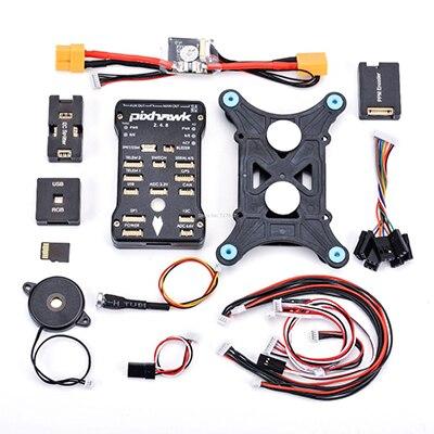 Pixhawk px4 PIX 2.4.8 32 бит Игровые Джойстики+ 433/915 телеметрии+ m8n GPS+ minim OSD+ pm+ Детская безопасность выключатель+ зуммер+ RGB+ стр./мин+ I2C+ 16 г SD - Цвет: base Pixhawk kit