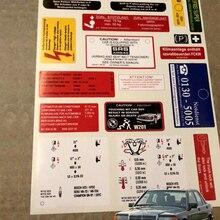 W201 190e 2,3 16v 2,5 16v 1,8 8v Наклейка Набор наклеек набор этикетка с принтом «Звезда», Эмблема Для Mercedes w201