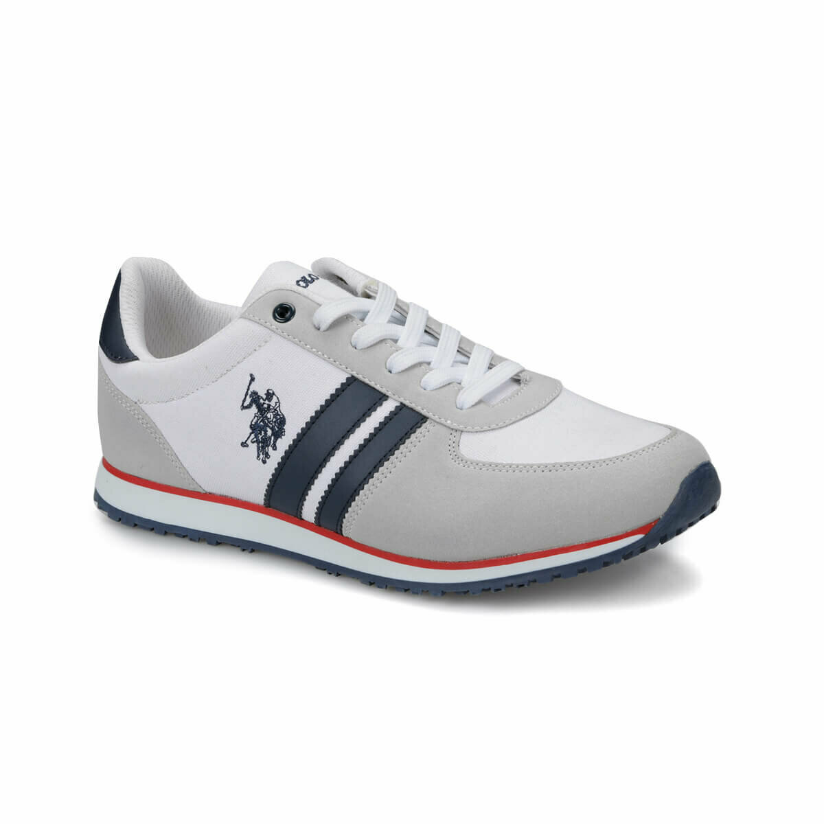 FLO PLUS White Men 'S Sneaker Shoes U.S. POLO ASSN.
