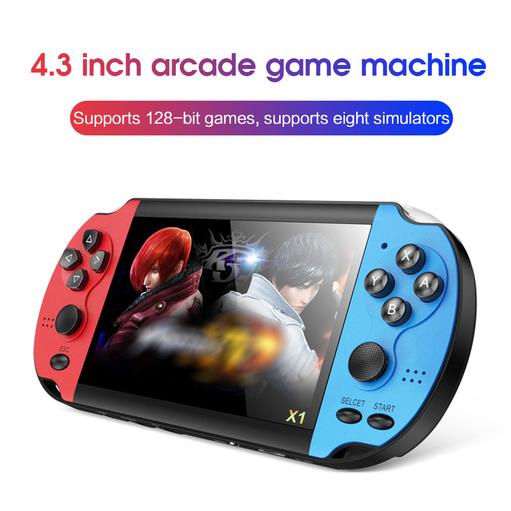 X1 4 3-inch Game Console Nostalgic Classic Dual-Shake Game Console 8G Built-in 10000 Games Super Core Handheld Game Players
