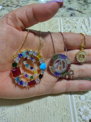 A-Z 3 Colors Pendant Necklaces photo review
