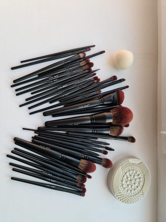 Jessup New Arrival Makeup brushes brushes Phantom Black 3-21pcs Foundation brush Powder Concealer Eyeshadow Synthetic hair reviews №1 235813