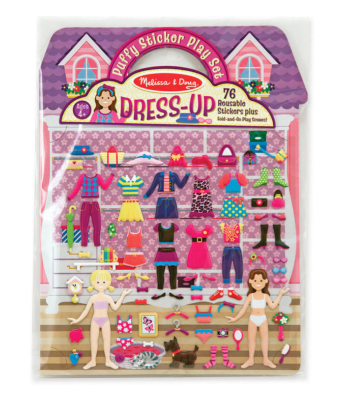 Reusable Puffy Stickers-Dress-UP M & D Toy Store Melissa & Doug