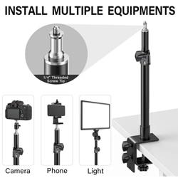 Universal Table Desk Clamp Mount w/1/4' Screw Tip for Camera Camcorder DSLR