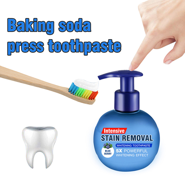 Magical Soda Whitening Toothpaste Teeth Whitening Cleaning Hygiene Oral Care Passion Fruit Fight Bleeding Gums Toothpaste Blue