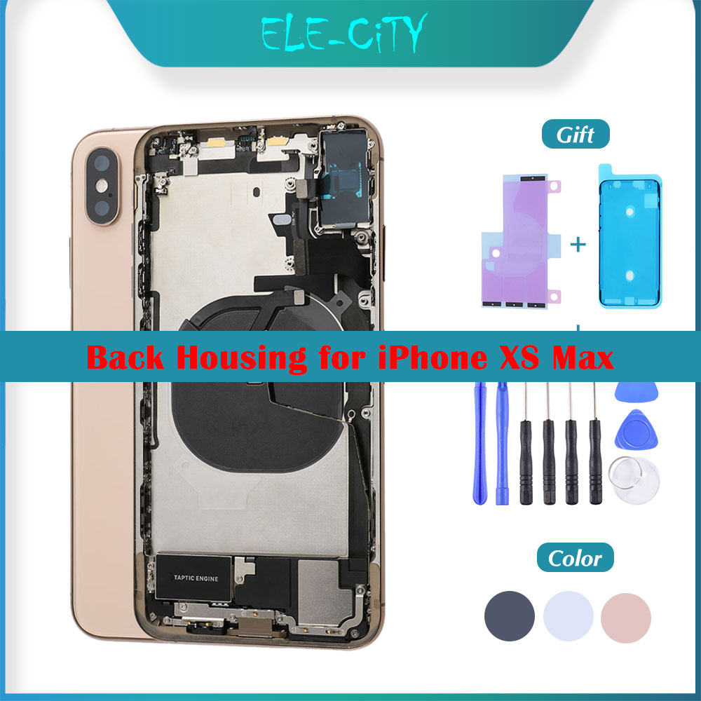 OEM Back Cover Housing For IPhone XS Max Back Middle Frame Chassis With Glass Full Assembly Battery Cover With ''LOGO'' Gift