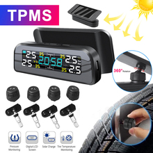 Smart Car Tire Pressure Monitoring System TPMS Solar Power Digital TMPS Tpms sensor Auto Security Alarm Tire Pressure Sensor