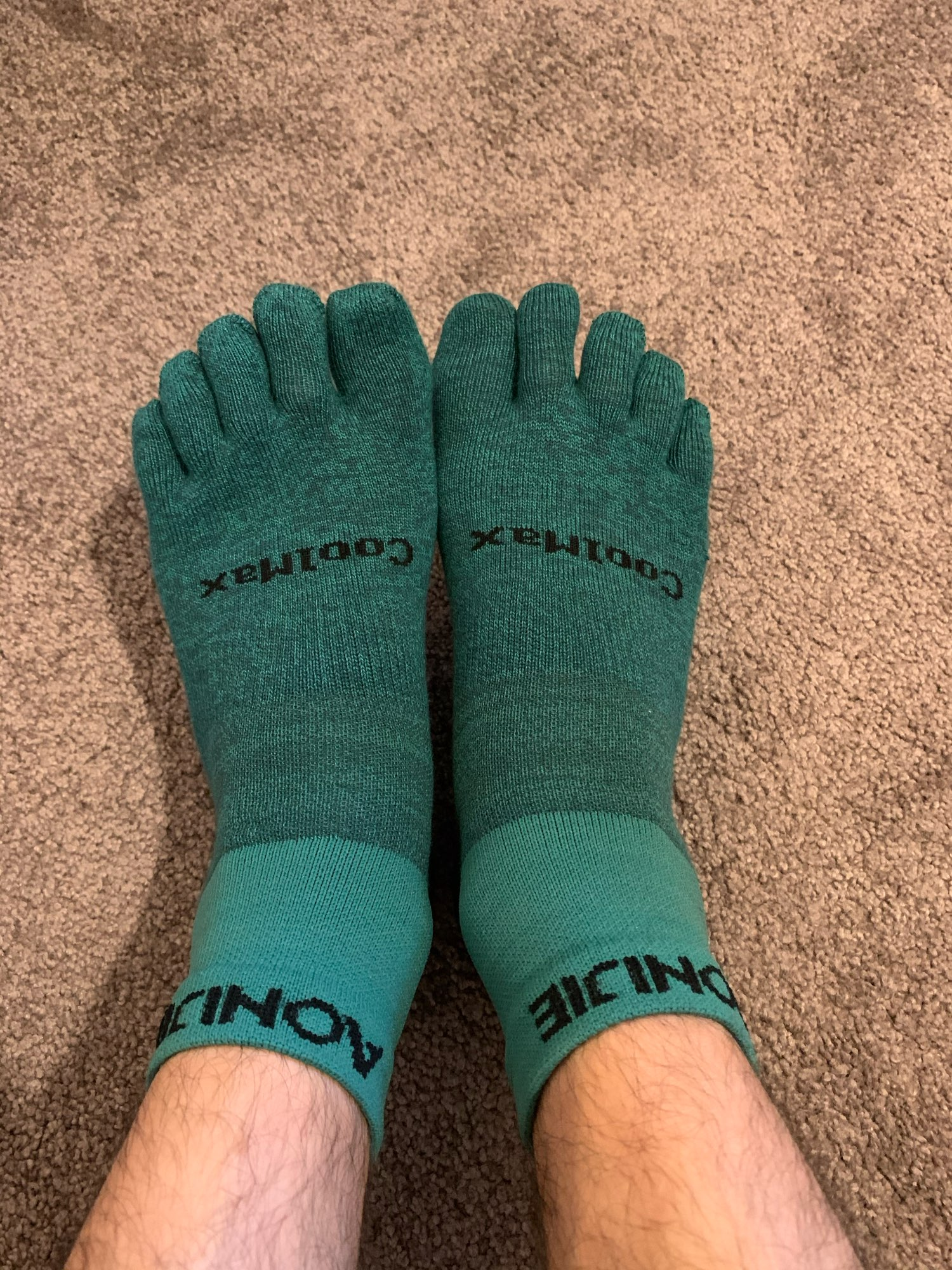 Solid Color Coolmax Athletic Toe Socks photo review