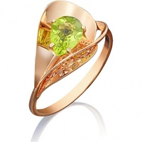 Yuz platinum ring with red gold
