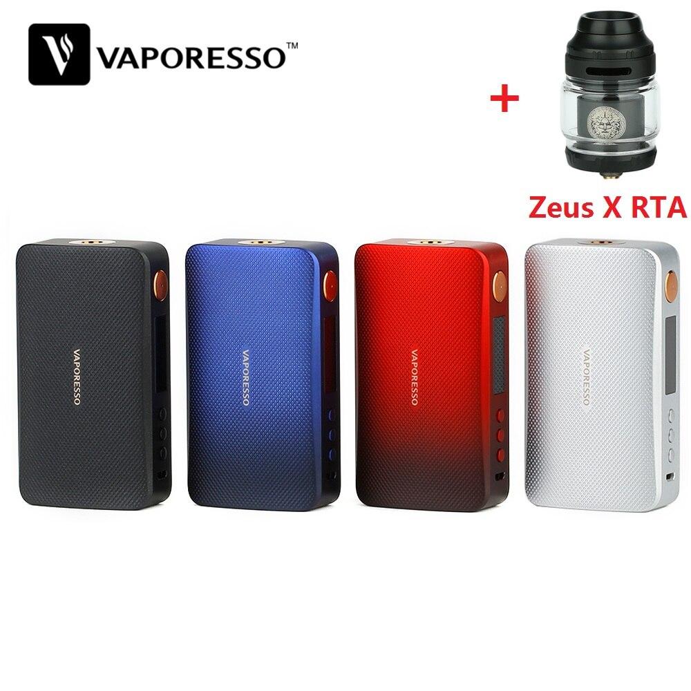 Original 220W Vaporesso GEN Mod Vape Box Mod With Zeus X RTA No 18650 Battery E Cigarette VS Vaporesso Luxe / Drag 2/ Shogun