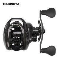 TSURINOYA Casting Reel DARK WOLF 100 6.4:1 Carbon Universal Long Casting Pike Bass Saltwater Deep Spool Baitcasting Tackle