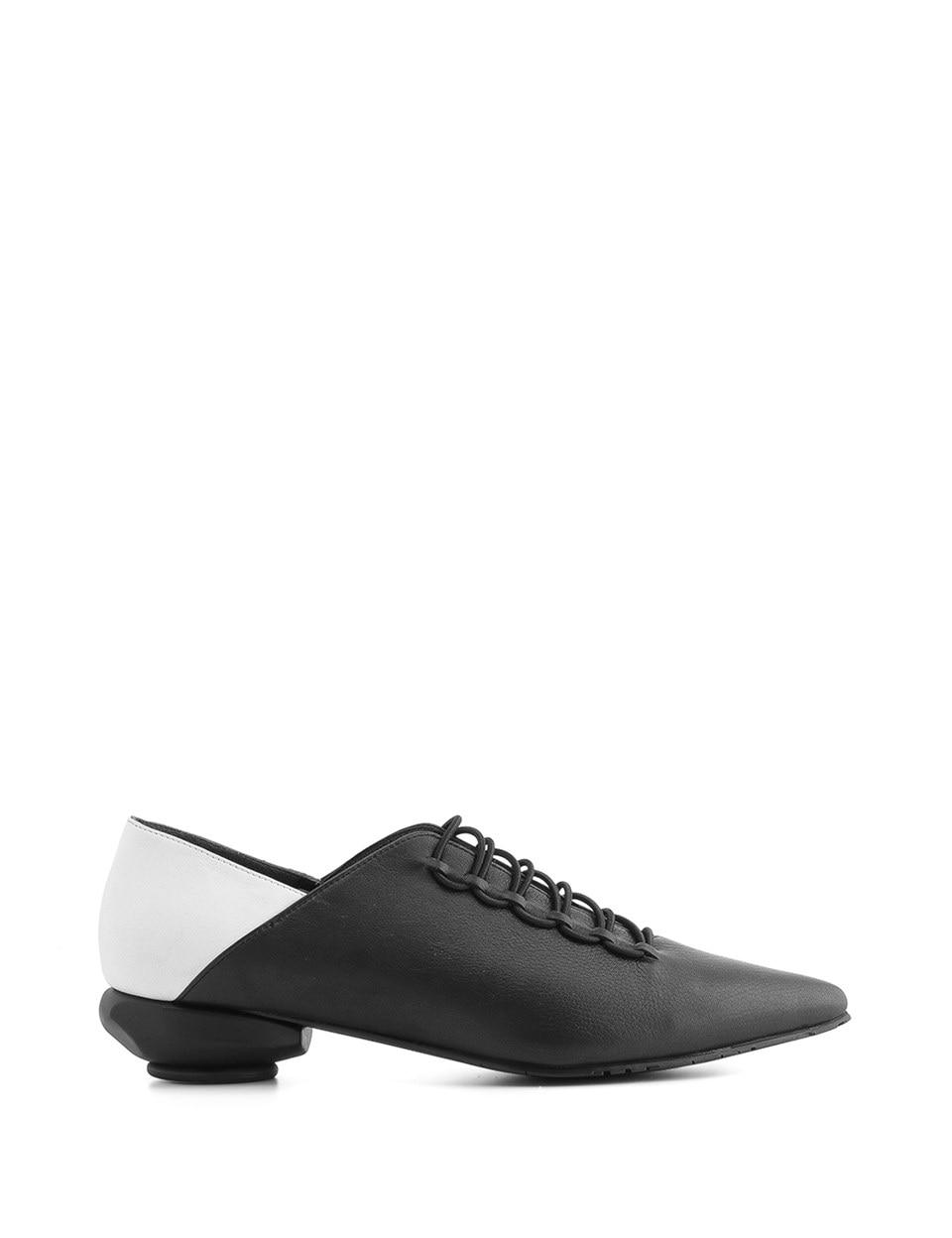 ILVi-Genuine Leather Handmade Wella Women's Moccasin Black Matte-White Women Shoes 2020 Spring Summer (Made in turkey)