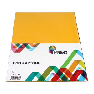 PAPERART 10'Lu Fund Carton Different Colors Stationery Supplies School Supplies Etkinleri Color Papers DIY