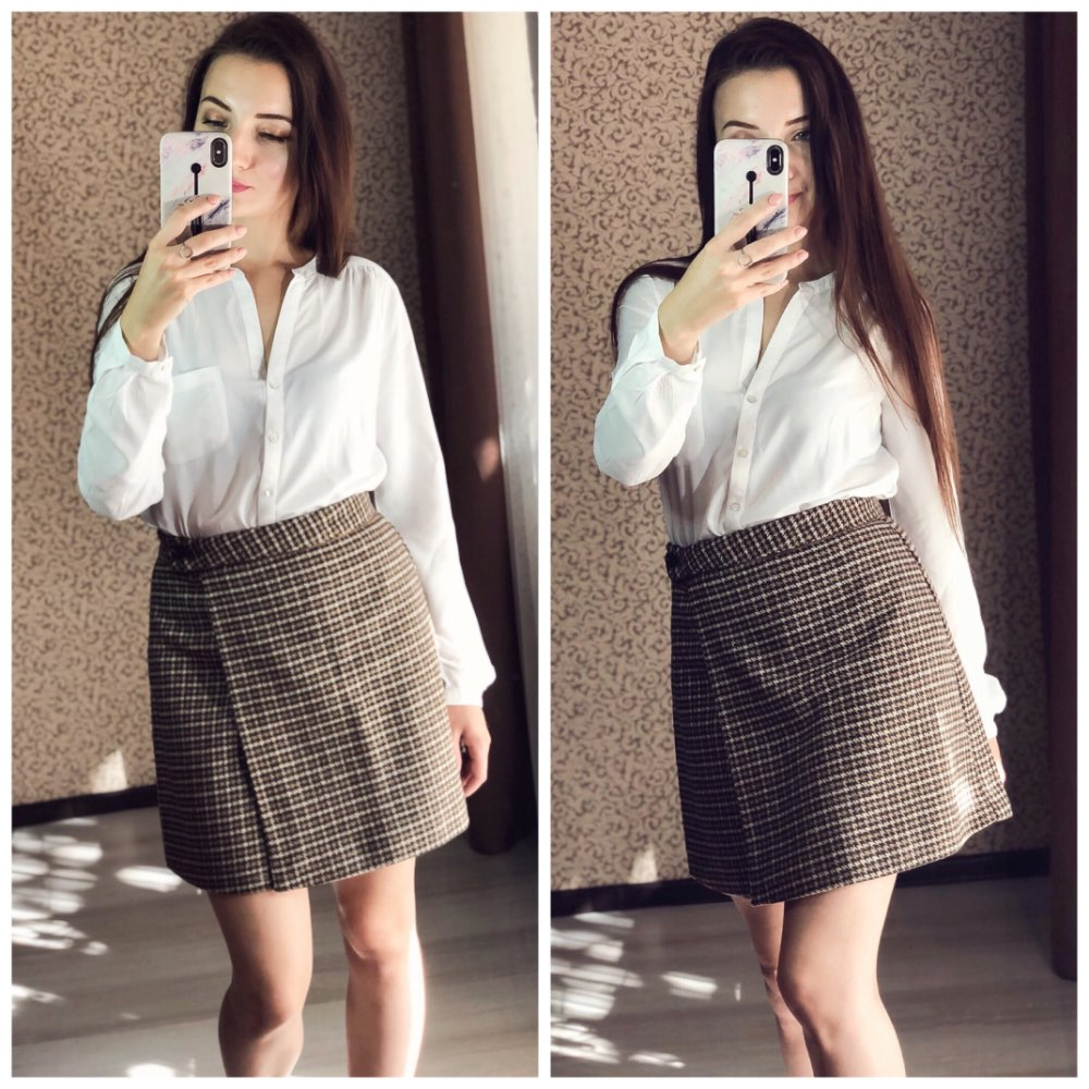 Woman Skirts Woman Pencil Skirt Lolita Bodycon Sexy Winte High Waist Vintage Petticoat Lattice Plaid Skirt Woolen photo review