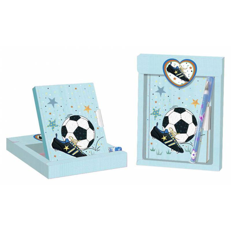 GIFT SET DIARY + BALLPOINT PEN FOOTBALL-Details And Gifts For Weddings, Christening Memories And Fellowship For Guests