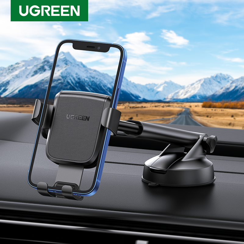 UGREEN Phone Holder Stand In Car Gravity Car Suction Cup Phone Stand for Mobile Phone for iPhone 12 Xiaomi Redmi Samsung Huawei 1