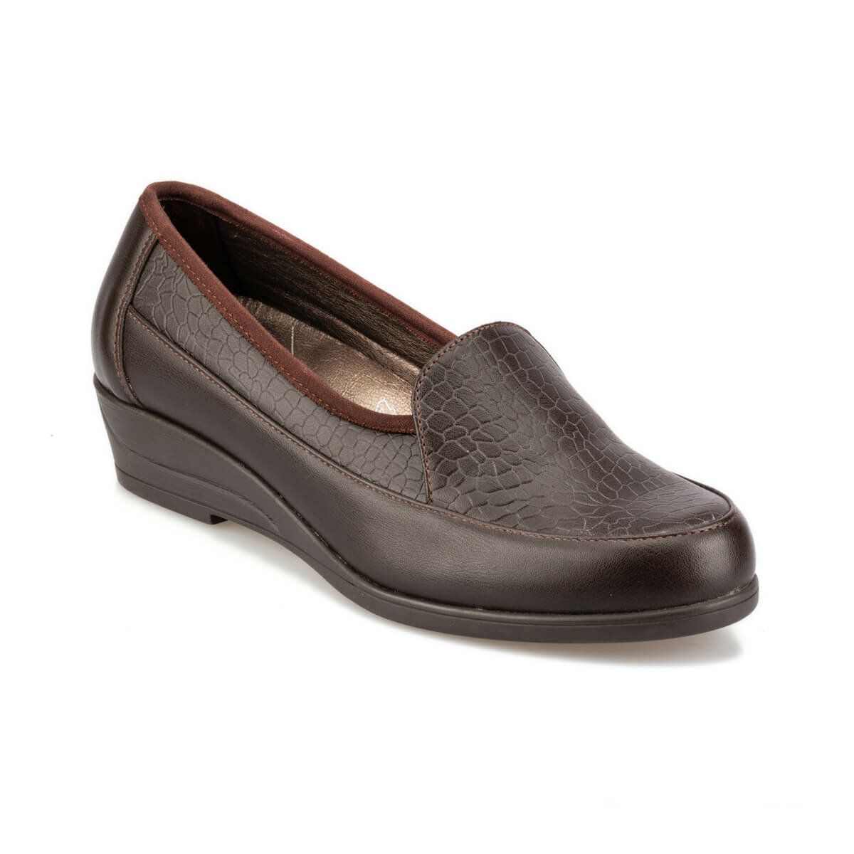 FLO 92.101023.Z Brown Women 'S Wedges Shoes Polaris 5 Point