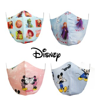 Mascarillas infantiles de tela lavable de Disney (Toy Story, Fronzen, Mickey Mouse, Minnie...)
