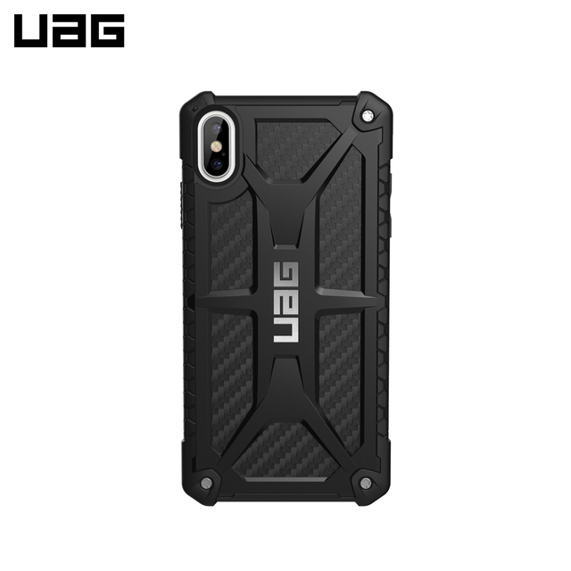 Защитный чехол UAG для iPhone XS Max серия Monarch цвет карбон/111101114242/32/4