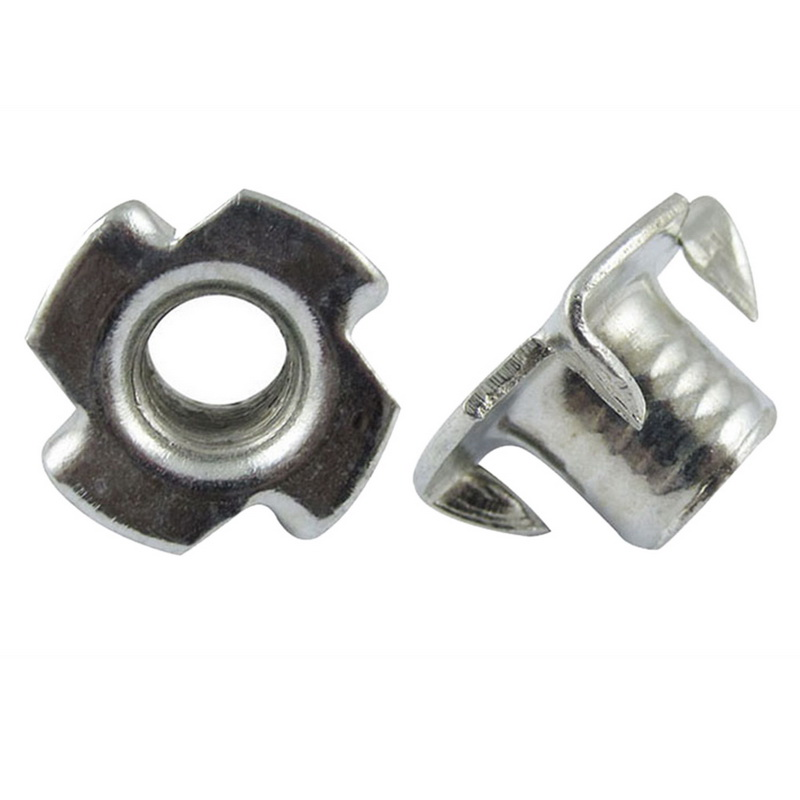 Pronged Tee Nut M4-M10(100 Pcs),For Rock Climbing Holds, Wood, Cabinetry, Etc.   Screw Nut
