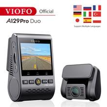 4K DVR Dual Dash Cam VIOFO A129 Pro Duo 3840*2160P Ultra HD 4K front rear Dash Camera Sony 8MP Sensor GPS Wi-Fi car cam G-sensor